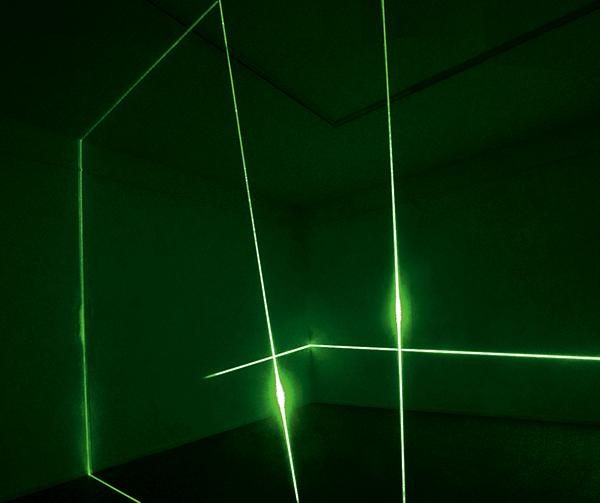 Rainer Plum, Laserinstallation Kleinsassen, 2021
